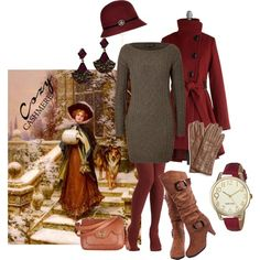 """""""Old-fashioned cashmere style"""" by maria-kuroshchepova on Polyvore"""