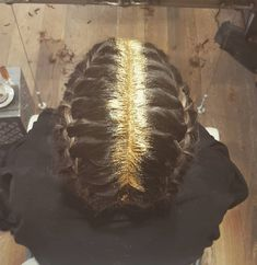…or a full-on metallic attack. | New Glitter Roots Hair Trend Has Women Dumping Sparkles Onto Their Heads