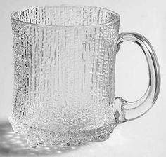 iittala ultima thule beer mug. Thrifted one like this for gwpa White Plates, Thrifting, Beer, Pottery, Contemporary, Crystals, Glass, Silver, Tables