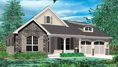 This #ENERGYSTAR® Approved #houseplan comes with a lovely home office, kitchen island, rear porch, open floor plan, and many more key features. Check them out here: http://houseplans.housingzone.com/plan/2432/