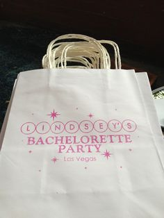 Las Vegas Wedding Gift Bag Ideas : Designed and Printed White Las Vegas Bachelorette Wedding Welcome Bags ...