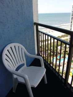 Enjoy your morning coffee on the balcony of your ocean view room at hotel BLUE!