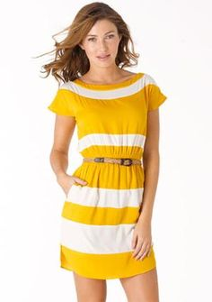 Yellow is sooo in this spring..I feel like with my tan I can pull this off :)