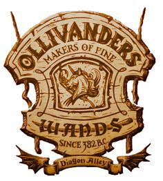 Ollivanders sign
