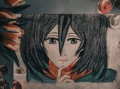 #diy #drawing #drawingideas #drawingtips #animedrawings #namimik88 #animestyle #mikasa #one_piece #luffy #اقتباسات #صباح_الخير #رسم #انمي #فن #artist Drawings, Anime, Sketches, Cartoon Movies, Anime Music, Drawing, Portrait, Animation, Draw