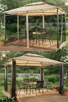 Protection from rain, shine and bugs, this 10Ft. x 12Ft.Classic Garden Gazebo provides a sanctuary for celebration wherever you position it — yard, deck, patio or park.