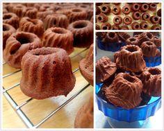 Tassenkuchen - Bäckerei: Schoko-Kirsch Mini-Gugl mit Zimt