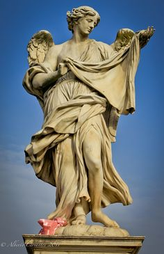 Angel statue near Castel Sant'Angelo in Rome
