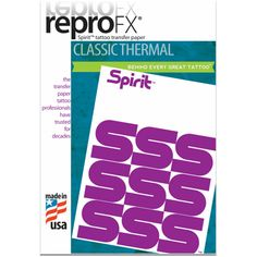 Spirit Tattoo Transfer Paper -100 Sheets - Compatible with All Thermal Printers #Spirit