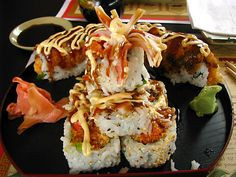 New Uncle Sushi rolls    Front: White Dragon Roll  Back: Firecracker Roll