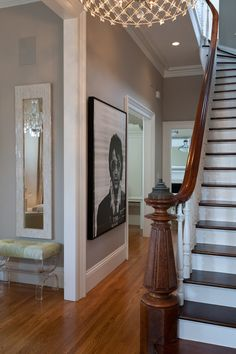 Grand Victorian Foyer  Foyer  Hallway  TraditionalNeoclassical  Transitional  Victorian by Kendall Wilkinson