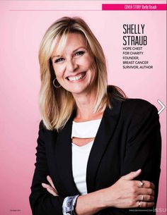 Shelly Straub and Hope Chest for Charity cover story in Syracuse Woman Magazine