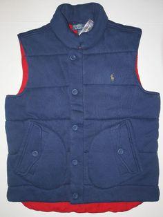 Polo Ralph Lauren fleece vest size medium quilted puffer vest check my store #PoloRalphLauren