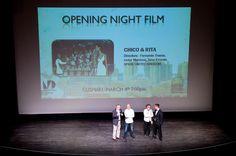 """Fernando Trueba, Tono Errando, and Javier Marisca at the showing of """"Chico y Rita"""" during MIFF 2011. March 4, 2011"""