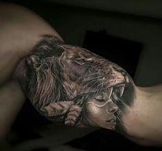 Shamans in lion's head