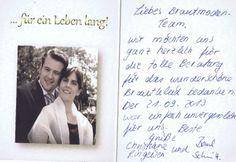 Liebes Brautmoden-Team, wir möchten uns ganz herzlich für die tolle Beratung für das wunderschöne Brautkleid bedanken. Der 21.09.2013 war einfach unvergesslich für uns. Beste Grüße Christiane Ringeisen & Bernd Schmitt