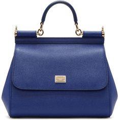 Dolce and Gabbana Blue Medium Miss Sicily Bag (1 8a40691beb476