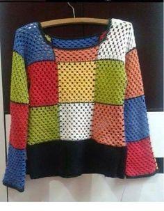 Fabulous Crochet a Little Black Crochet Dress Ideas. Georgeous Crochet a Little Black Crochet Dress Ideas. Pull Crochet, Crochet Jumper, Black Crochet Dress, Crochet Cardigan, Crochet Shawl, Easy Crochet, Knit Crochet, Freeform Crochet, Crochet Granny
