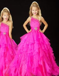 2013 New Lovely One-shoulder Sleeveless Ball Gowns Organza Beaded Floor Length Flower Girl Dresses Girl's Pageant Dresses Cheap 2014 Pagent Dresses, Little Girl Pageant Dresses, Wedding Dresses For Girls, Ball Dresses, Girls Dresses, Flower Girl Dresses, Flower Girls, Junior Dresses, Dresses 2014