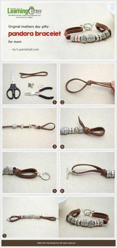 Comment faire un bracelet en cordon daim personnalisé avec des perles Pandora: