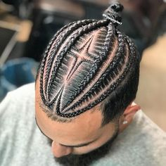 Cornrow Styles For Men, Cornrow Hairstyles For Men, Hair Twist Styles, Cool Braid Hairstyles, Black Men Hairstyles, Natural Hair Styles, Long Hair Styles, Braids With Fade, Braids For Boys