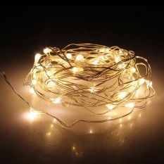 Kind-Hearted Aa Battery Operated 3m 30 Leds Silver Wire String Light 9 Colors Led Holiday Christmas Wedding Party Home Decoration Lighting Selected Material Lights & Lighting
