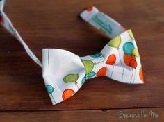 Boys Bow Tie  Wonderful fun orange green balloons by becauseimme, $15.00