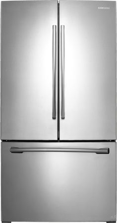 Samsung RF261BEAESR 25.5 cu. ft. French Door Refrigerator with Spill Proof Glass Shelves, Humidity Controlled Crispers, Power Freeze/Cool, Ice Maker and Internal Water Filter: Stainless Steel