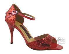 Natural Spin Tango Salsa Shoes/Tango Shoes/Fashion Shoes(Open Toe):  T1102B-36_R
