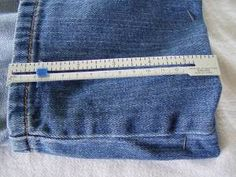 hemming jeans the professional way tutorial