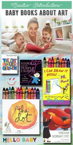These completely baby-friendly books (including biographies of famous artists) will introduce your child to the joys of creativity at an early age. August Baby, Baby Books, Baby List, Biographies, Famous Artists, Verona, How To Introduce Yourself, Your Child, Little Ones