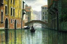 Imágenes Arte Pinturas: Vistas De Venecia En Pintura Hiperrealista por Mark Pettit