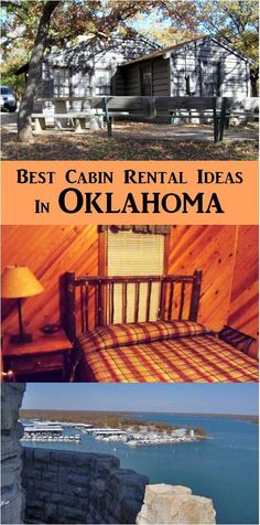 Oklahoma cabin rentals - Lake Murray State Park has a wide selection of cabin rentals, beautiful scenery, and lots of fun activities to enjoy. Oklahoma Cabin Rentals, Travel Oklahoma, Places To Rent, Adventure Awaits, Porch Swing, Fun Activities, State Parks, Boating, Vacations