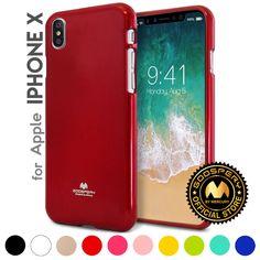 For iPhone X (10) Genuine MERCURY Goospery Metallic Pearl Jelly Soft Case Cover