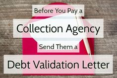 Credit Collection, Collection Agency, How To Fix Credit, Improve Your Credit Score, Credit Repair Companies, Budgeting Finances, Financial Tips, Money Saving Tips, Money Savers