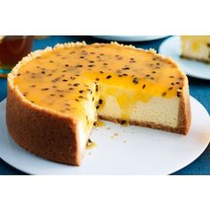 Baked White Chocolate and Passion Cheesecake Recipe | Milly's Kitchenware