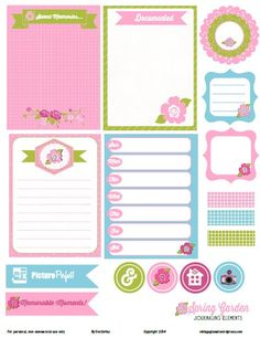 spring garden journaling element preview Free Printable Download    Spring Garden Journaling Elements