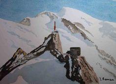 Aiguille du Midi et le Mont Blanc-Alpes-France