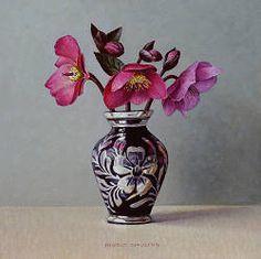 ingrid smuling | ... kommen met druiven stilleven schilderij in olieverf van Ingrid Smuling
