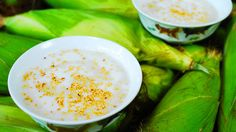 Get Sweet Corn Pudding: Che Bap Recipe from Cooking Channel Sweet Corn Pudding, Corn Pudding Recipes, Coconut Pudding, Vietnamese Dessert, Vietnamese Cuisine, Vietnamese Recipes, Asian Recipes, Asian Foods, Japanese Street Food
