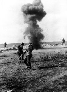 Death of a German soldier in the Southern Lines, 1942.