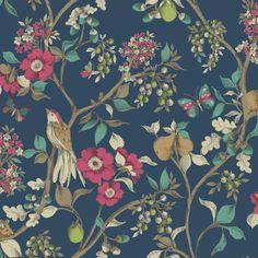 Pivoine Jaune Rose Gris Floral Papier Peint Roses Fleurs peintes HOLDEN DECOR