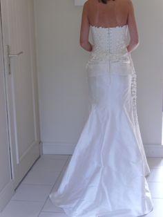 Robe de mariée Cymbeline NEUVE blanc cassé en soie d'occasion