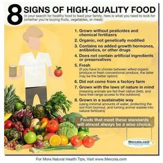 8 signs of high-quality food