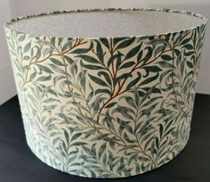 Fabric Lampshade, Lampshades, Cottage Living Rooms, Wall Boxes, Country Style Homes, Ceiling Pendant, William Morris, Table Lamp, Green