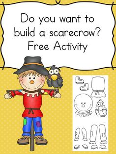 Do you want to build a scarecrow? Do you want to make a scarecrow? This is a fun craft for kids -preschool, kindergarten and beyond! It will challenge fine motor and cutting skills.and it is a fun fall project. Free Activities, Autumn Activities, Toddler Activities, Learning Activities, Fall Activities For Preschoolers, Dementia Activities, Toddler Learning, Physical Activities, Physical Education