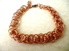 Bronze bracelet Helm bracelet chainmaille bracelet. by Kostadinka