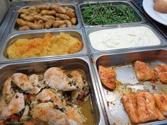 Stuffed chicken and salmon--it's what's for lunch!