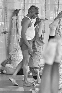 BKS Iyengar teaching yoga in India | Repinned by Moeloco Flip Flop | Buy one, change a life | www.moeloco.com
