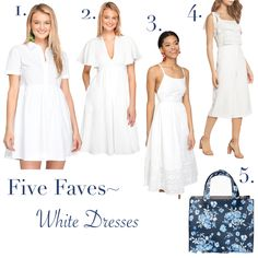Five Faves~ White Dresses